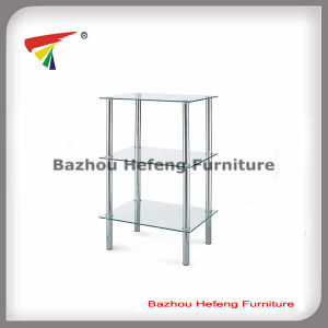 Clear Tempered Metal Glass Side Table (C14) pictures & photos