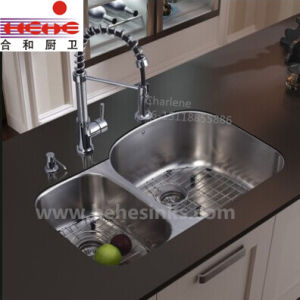 40/60 Under Mount Kitchen Sink with Cupc Approved 8653ar pictures & photos