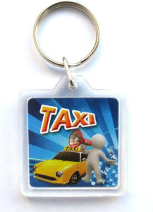 Custom Transparent Plastic Keyrings Printed Acrylic Keychain pictures & photos