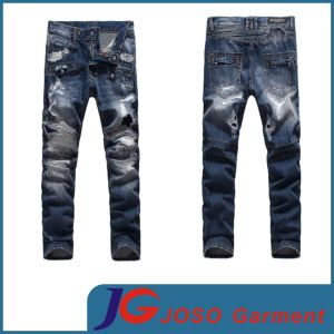 Waist Mens Jeans Fashion Ripped Trousers Pants (JC3383) pictures & photos