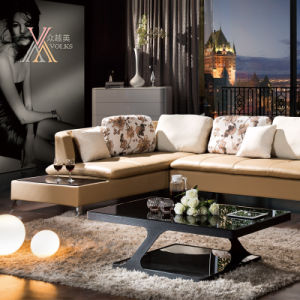 Leather Sofa with End Table (310) pictures & photos