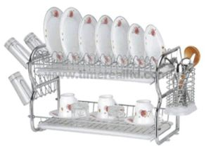 2 Layers Metal Wire Kitchen Dish Rack No. Dr16-Bb pictures & photos
