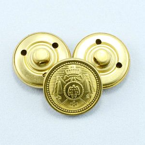 Plating Gold Military Metal Brass Shank Button pictures & photos