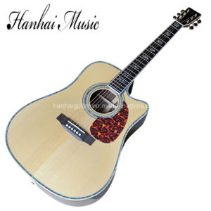 Hanhai Music / 41′′ Acoustic Guitar with Colorful Shell Inlay (D45) pictures & photos