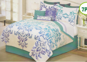Home Decoration Printed Microfiber Quilt Set pictures & photos