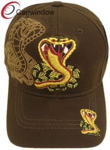 Snake Embroidered Fashion Promotional Leisure Sport Baseball Cap pictures & photos