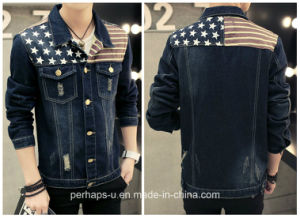 Fashion Clothes Mens Long-Sleeved Denim Jacket pictures & photos