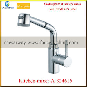 Single Handle Pull out Spray Kitchen Sink Tap pictures & photos