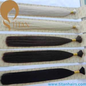 Bulk Hair Silky Straight Indian Human Remy Hair Bulk