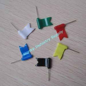 Bulk Packing Blue Plastic Head Nickle Plated Steel Wavy Flag Head Pins (P160728A) pictures & photos