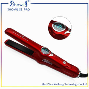 LCD Salon Hair Styling Tools Ceramic Flat Iron Professional Hair Straightener pictures & photos