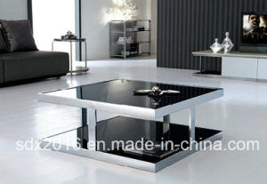 Elegant Glass Top Coffee Table Densign pictures & photos
