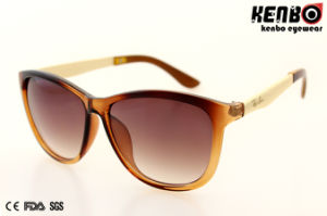 Popular Fashion Plastic Sunglasses with Metal Temple UV400 Kp50867 pictures & photos