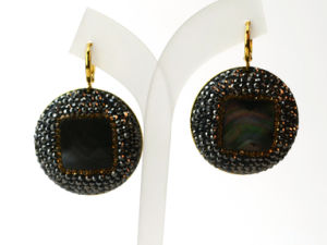 China Fashion Stone Abalone Earrings Earring Jew