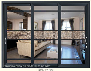 Matt Gray Color 3 Panles Aluminum Sliding Door pictures & photos