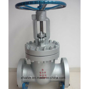 High Pressure 600lb Cast Steel Wcb Flange End Gate Valve pictures & photos