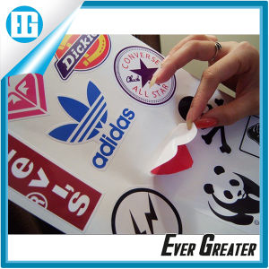 Custom White Adhesive Printing Logo and Pattern Vinyl Sticker pictures & photos