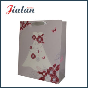 Customize with Glitter Flowers Lady′s Dress Shopping Gift Paper Bag pictures & photos