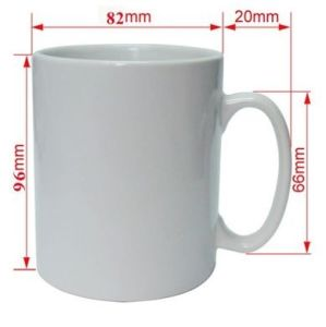 White Ceramic Coated Blank Mug for Sublimation Transfer pictures & photos