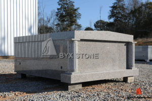 Grey Granite Mausoleum / Cemetery Mausoleum with Roman Column pictures & photos