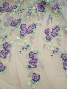 Colorful Embroidery Lace Fabric for Wedding Dress pictures & photos