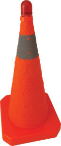 Collapsible LED Traffic Road Safety Cone pictures & photos