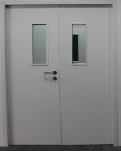 120min UL Single Leaf Steel Fire Doors with Vision Panel pictures & photos