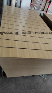 Full Poplar Core with SGS Certificate Melamine MDF with Slot pictures & photos