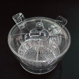 Wholesale Transparent Acrylic Salad Bowl with Spoons pictures & photos