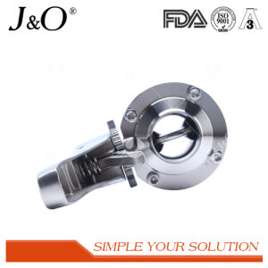 New Design Sanitary Weld Male Butterfly Valve with Ss Handle pictures & photos