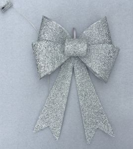 Silver Metallic Christmas Tree Night Light Bow pictures & photos