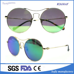Super Large Oversized Metal Round Circle Sunglasses with Polarized Lens pictures & photos
