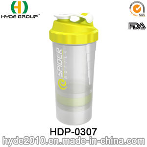 500ml Custom PP Material Plastic Shaker Bottle, Plastic Protein Shaker Water Bottle (HDP-0307) pictures & photos