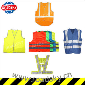 High Quality Colorful Adult Safety Mesh Reflective Vest with Zipper pictures & photos