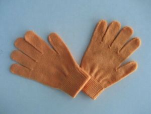 10g Acrylic Orange Single Color Fashion Glove-F3101 pictures & photos