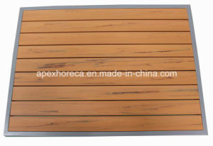 Garden Outdoor Furniture Plastic Wood Table Cafe Furniture Table Top pictures & photos