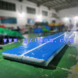 8m X 3m Adult Gym Gymnastics Training Inflatable Air Track Blue PVC pictures & photos