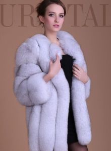 2015 Latest Colorful Fur Coat /Fox Fur Coat for Winter pictures & photos