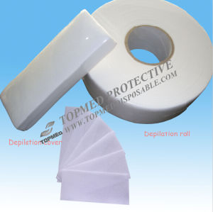 Nonwoven Disposable Waxing Strip Rolls, Depilatory Wax Roll pictures & photos