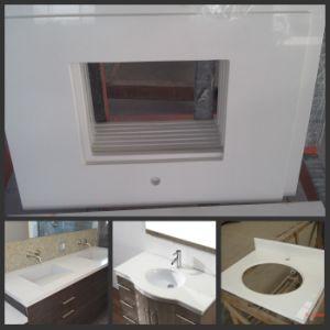 White Artificial Quartz Stone Bathroom Vanity for Kitchen Countertop pictures & photos