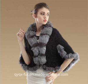 2015 Newest Mink Fur Coat with Fox Collar pictures & photos