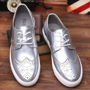 Leather Shoes Classic Modern Carving Casual Shoe for Men (AKLS1) pictures & photos