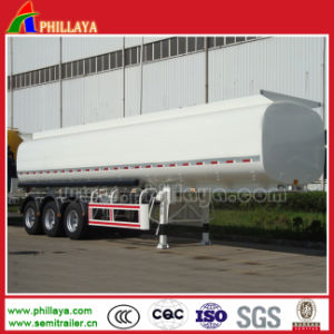 Tri-Axle 42cbm Carbon Steel Semi Fuel Tanker Trailer pictures & photos