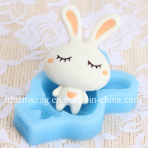 F1293 Cute Cartoon Animal Rabbit Shape Fondant Silicone Molds