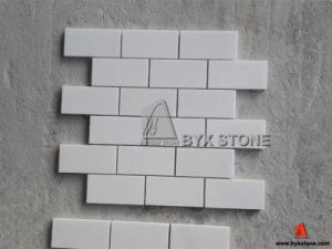 Pure White Yugoslavia Marble Wall Mosaics pictures & photos