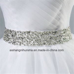 Strapless Diamond Formal Crystal Beaded Wedding Dress pictures & photos