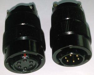 Mil-26482 Series Circular 6 Pins Connectors pictures & photos
