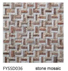 Strainless Steel Mixed Nature Building Material Marble Mosaic Floor Stone Tile (FYSM078) pictures & photos