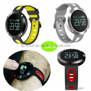 Waterproof Smart Bracelet with Heart Rate and Blood Pressure Monitor Dm58 pictures & photos