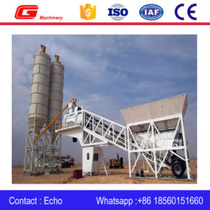 Yhzs40 Movable Concrete Mixing Station Plant with 40m3/H Capacity pictures & photos